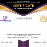 certificate course 150x150 - Middle East Security Analyst